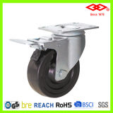 "4"" Swivel Plate with Brake Hard Rubber Caster (P120-53B125X35S)"
