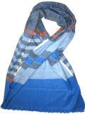 100%Cashmere Woven Striped Shawl Xc09017-2#