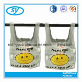 Plastic T-Shirt Shopping Bag with Various Colors Printed