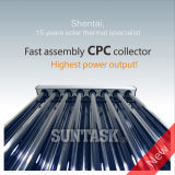 CPC Heat Pipe Solar Collector with Solar Keymark Certificate (SHC)