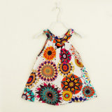 Children Clothes Condole Belt Broken Flower Dress of The Girls