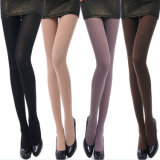 120d Plus Size Velvet Pantyhose Tights Wholesale Black and Plain Stockings