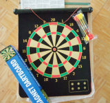 Cloth Roll up Magnetic Dartboard for Kids