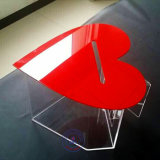 Acrylic Heart Shape Lockable Donation Box