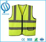 Hi Vis ANSI Class 2 Reflective Safety Straps Vest with Customt Shirt Printing