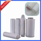 Industrial 5 Microns 10 Inch PP Pleated Oil Filter with Soe DOE Connector