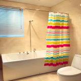 Colourful Rainbow Strip PEVA Shower Curtain for Bathroom