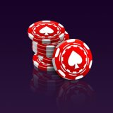 Red Custom Display Jetton Poker Chips Chip