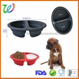 New Wholesale 2 Cavity Multifunctional Silicone Foldable Travel Pet Bowl