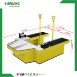 U Shape Electric Checkout Counter with Convey Belt