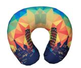 Inflatable Travel Neck Pillow with Various Pattern