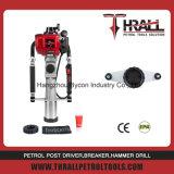 3′′ barrel hammer piling machine petrol post driver