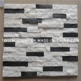 Natural Black White Quartzite Cultured Stone for Wall Cladding
