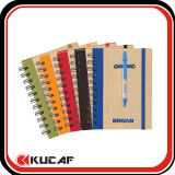 Kraft Cover Spiral Bound Notebook with Pen