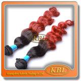 Hair Weaving in Good Brazilian Two Tone Hair Extension