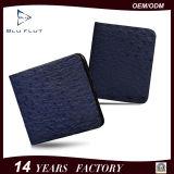 Customized Logo Design Genuine Ostrich Leather Men Wallet