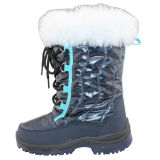 2014 Latest Design Kid's Injection Snow Boots with Water Resistance (IK0259)