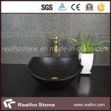 Stone Washbasin, Absolutely Balck Granite Vanity Sink for Kitchen / Bathroom
