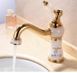 Luxury Single Handle Brass Bathroom Marble Basin Mixer (Zf-M01)