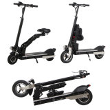 Portable Two Wheels Electric Folding Kick Scooter with Saddle