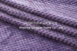 100% Polyester Jacquard Plain Flannel Blanket/ Honeycomb Plain Blanket
