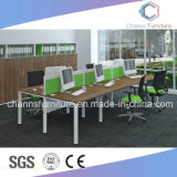Contemporary Computer Table Furniture Six Persons Office Workstation