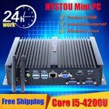 Intel Core I5 4200u Fanless Mini Industrial PC with 4G RAM 64G SSD