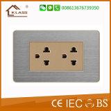 New Design Philippine Standard 2gang 6pin Wall Socket