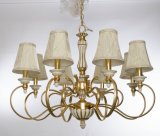 Luxury Golden Finishing with Vintage White Chandelier Light for Project