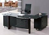 Glass Top Director Office Desk Wooden Office Furniture (HX-GL012)