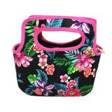 Printed Neoprene Lunch Bag with Nylon Zipper