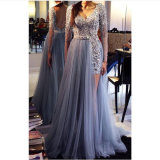 Lace Party Prom Gowns Tulle Beading Evening Dress Hb17918