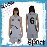 Logo Design Plain Women′s Basketball Uniform Set (BK008)