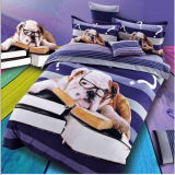 100% Cotton 3D Shar Pei Dog Brushed Duvet Cover Set