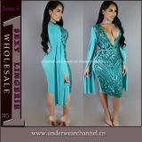 Women New Fashion Sexy Bodycon Night Club Cocktail Dress (TBLSN303)