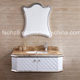 Elegant Silver Stainless Steel Bathroom Vanity