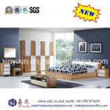 Oak Color Home Wooden Bed Modern Bedroom Furniture (SH-008#)