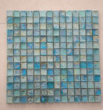 Iridescent Square Glass Recycle Glass Mosaic Hot Melt Mosaic Swimming Pool Tile Blue