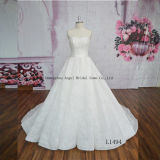 Ball Gown Sleevless Laceapplique Bridal Dress Made in China