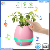 Smart Bluetooth Speaker LED Touch Music Flower Pot