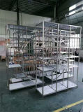 Hotel Furniture Fabrication Stainless Steel Display Shelves Artistic Racks Could Do Many Colors