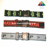 "High-Quality Polyester 2"" Letter Printed Luggage Strap with Plastic Buckle"