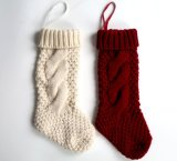 Custom Made to Order Traditional Knit Christmas Stocking