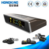 Color Display Tire Gauge, Solar Energy with 4 Internal Tyre Sensor