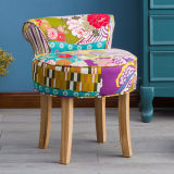 Antique Vanity Chair W171605 with Printed Fabric Dressing Chair