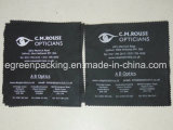 Black Microfiber Optical Glasses Cleaning Cloth with Custom Design