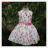 High Quality Floral Pattern Summer Casual Dress for India Dresses