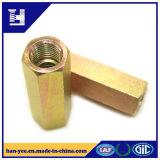 Hexagon Coupling Galvanized Steel Lock Slotted Nut