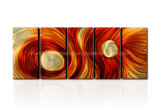 Newest Colorful Abstract Metal Art From China