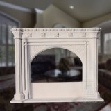 Gothic Marble Fireplace with Good Hand-Carving Quality T-5125